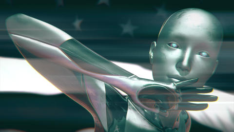 4K USA AI Artificial Intelligence Concept Animation