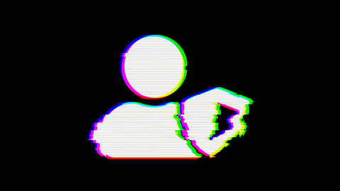 From the Glitch effect arises user shield symbol. Then the TV turns off. Alpha channel Premultiplied Animation