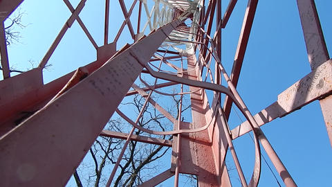 The design of the fire tower of the metal Footage