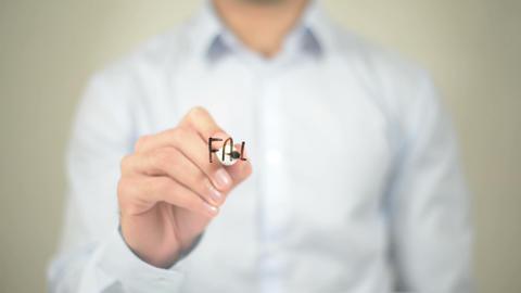Fairness , Man writing on transparent screen Footage