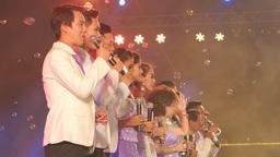 Group Of Thai Singers,Bangkok,Thailand stock footage