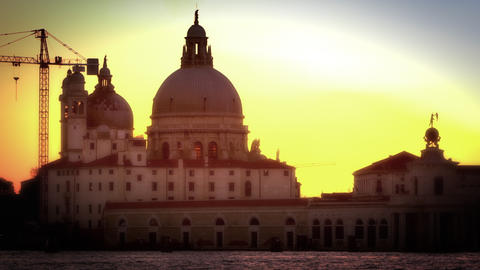 Time lapse footage of Santa Maria della Salute Footage