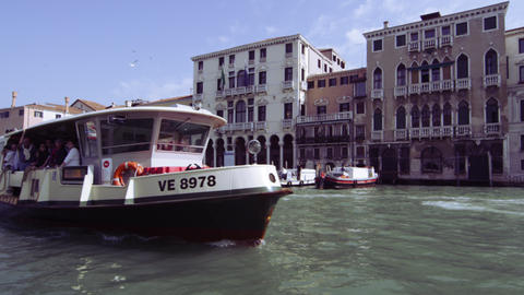 Sped up footage of motor boats on Grand Canal Footage