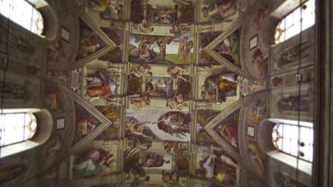 Tilt shot of the Sistine Chapel Footage