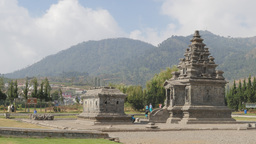 Arjuna Complex Ancient Hindu Temples,Dieng,Indonesia stock footage