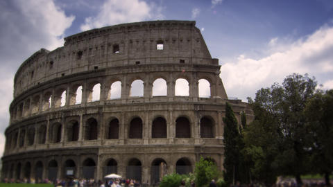 People walking in front of the Colosseum in Rome Italy Footage