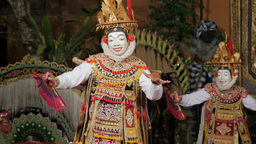 Traditional balinese dance with mask,Ubud,Indonesia Footage