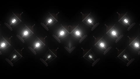 Old Lamp Lights Patterns Stock Video Footage