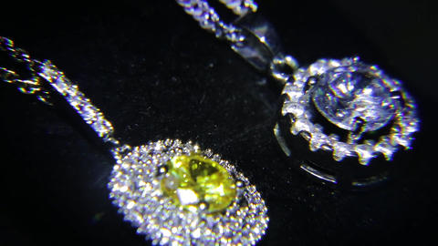 Synthetic diamonds on the jewelry 001 Footage