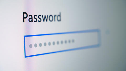 Password Entry Stock Video Footage