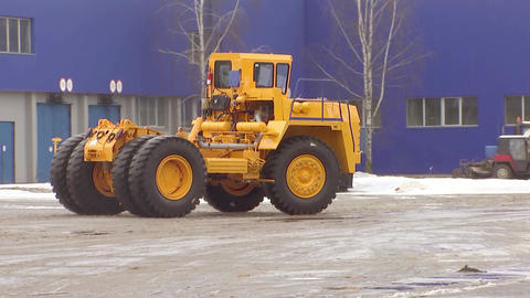 Career dump truck rides on the road, tow truck Footage