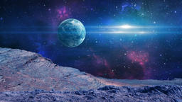 Astronaut on planet in space Elements furnished to NASA, 3D rendering Animation