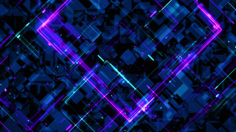 4K Abstract looped polychrome background of animated Animation