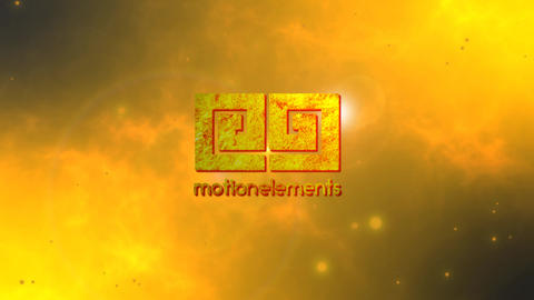 Golden Fire logo After Effects Template