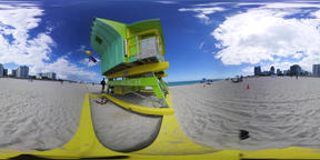 360 vr video of a lifeguard tower in world famous Miami Beach VR 360° Video