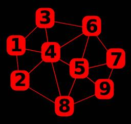 Number in mesh, network with number, abstract illustration with numbers in red Vector