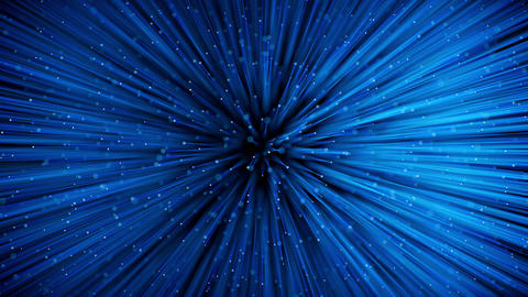 Glowing optical fibers. Top view with DOF Animation