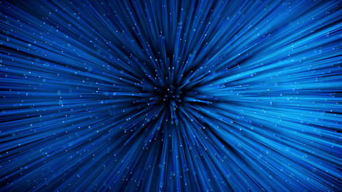 Glowing optical fibers. Top view with DOF, Stock Animation