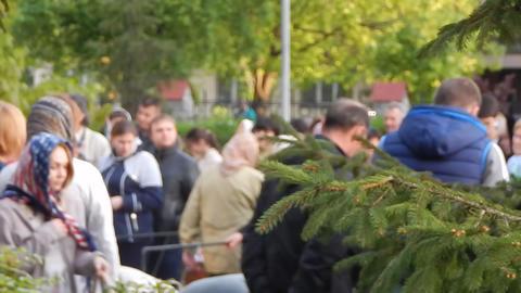 KIEV, UKRAINE - MAY 1, 2016. Easter celebration in the Ukrainian Orthodox Church Footage
