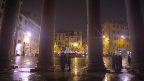Square in front of the Pantheon Footage