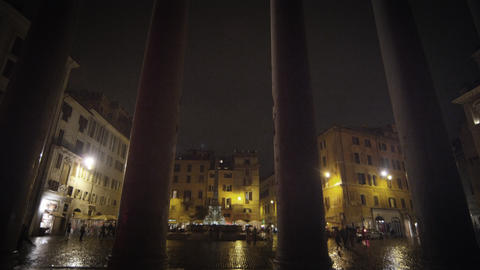Pillars in front of the Pantheon Footage
