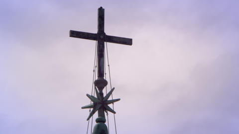 Cross near St. Peters basilicia Footage