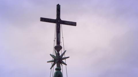 Cross near St. Peters basilicia Footage