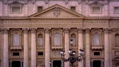 Roman streetlights and balcony Footage