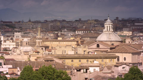 Panoramic footage of Rome skyline Footage