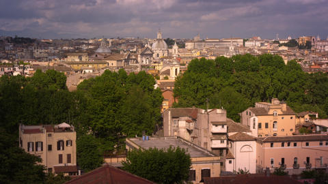Panoramic shot of Rome skyline Footage