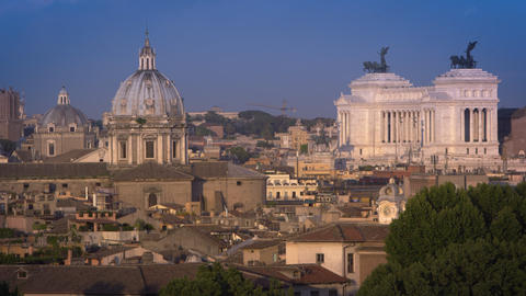 Dome of Sant'Andrea della Valle before the Altare della Patria Footage
