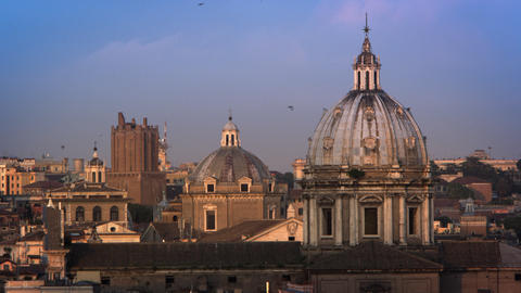 Footage of the dome of the Sant'Andrea della Valle and other domes and buildings Footage