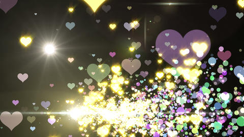 Lens Flares and Particles 16 heart A2f 4k Animation