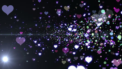 Lens Flares and Particles 16 heart B2f 4k Animation