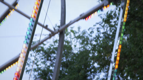Ferris wheel cars move up and back Footage