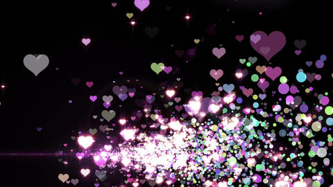 Lens Flares and Particles 16 heart C2f 4k Animation
