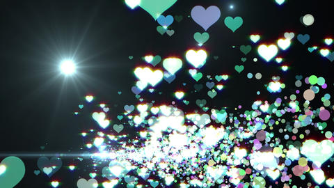 Lens Flares and Particles 16 heart D2f 4k Animation