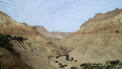Royalty Free Stock Video Footage of a desert canyon shot in Israel at 4k with Re Footage