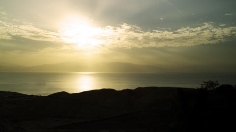 Royalty Free Stock Video Footage of dawn at the Dead Sea shot in Israel at 4k wi Footage