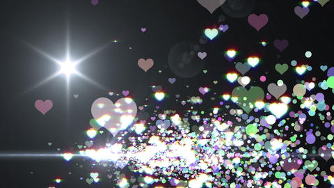 Lens Flares and Particles 16 heart H2f 4k Animation