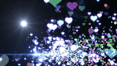 Lens Flares and Particles 16 heart J2f 4k Animation
