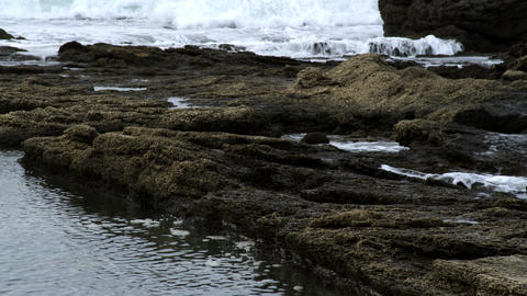 Royalty Free Stock Video Footage of rocky shore shot in Israel at 4k with Red Footage
