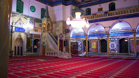 Royalty Free Stock Video Footage of Jezzar Pasha Mosque shot in Israel at 4k wit Footage