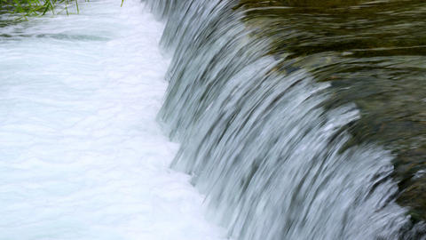Royalty Free Stock Video Footage of flowing water from Banias Spring shot in Isr Footage