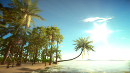 Heavenly tropical island background. (Seamless Loop) Animation