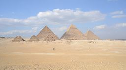 Giza Pyramids in Egypt Live Action