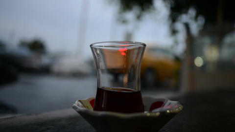 Arabian tea glass Footage