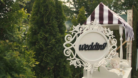Wedding Pointer Sign at Ceremony Live Action
