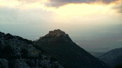 Stock Video Footage of Nimrod Fortress overlooking the valley shot in Israel at  Footage