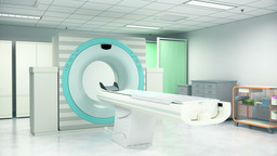 Examine Room With CT Scan Machine In Hospital stock footage